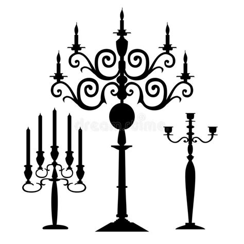 kerzenhalter clipart jogo de silhuetas dos candelabros do vetor ilustra 231 227 o do