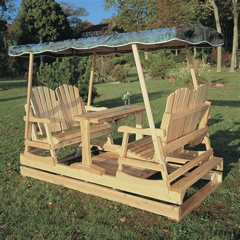 porch swing glider plans amish quot glacier quot pine log glider