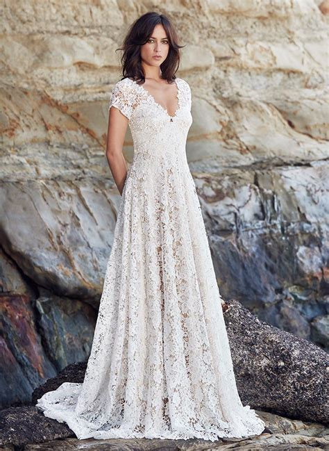 Lace Dress Wedding by Boho Lace Wedding Dress I Schimmel I Bridal I Nz