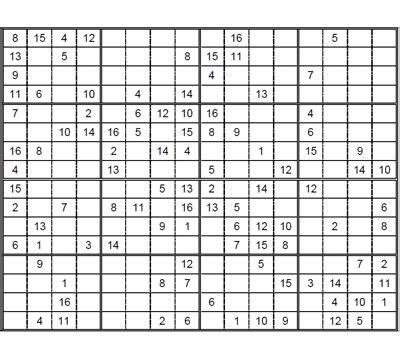 16x16 16 X 16 16 16 16 16 Dot Matrix Dotmatrix Module sudoku 16 x 16 medio para imprimir 2 sudoku gratis para descargar