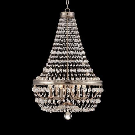 Brushed Nickel Chandelier With Crystals Trezza Brushed Nickel 20 Quot Wide Chandelier Bath