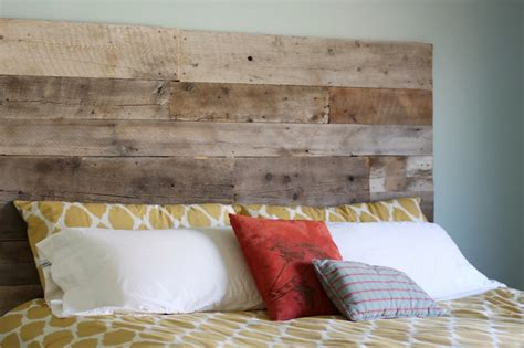 wood headboard diy creatively diy reclaimed wood headboard