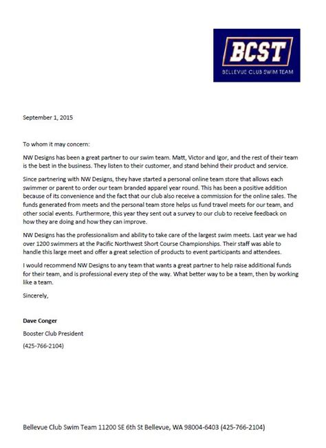 Reference Letter For Swimming Instructor Testimonials Northwest Designs Ink
