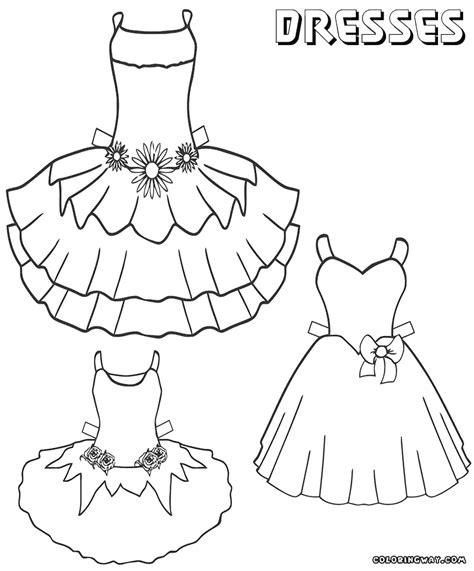 coloring page of a dress dress coloring pages coloring pages to download and print