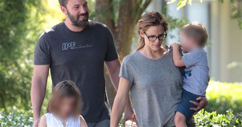 ben affleck smiles as he happy families ben affleck smiles as he steps out with