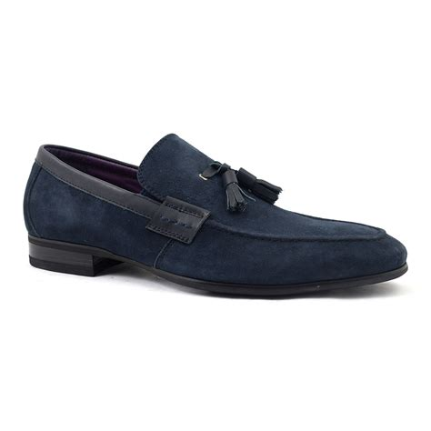 navy loafer buy mens navy suede tassel loafer gucinari shoes