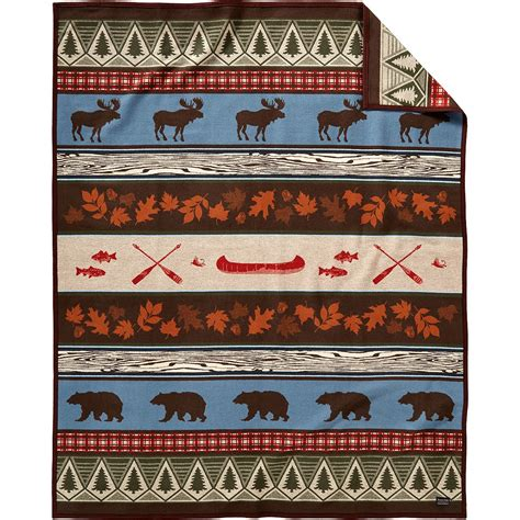 Wool Pendleton pendleton pine lodge wool blanket made in