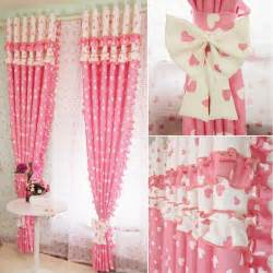curtains for pink room aliexpress buy pink blackout splice flounce curtains