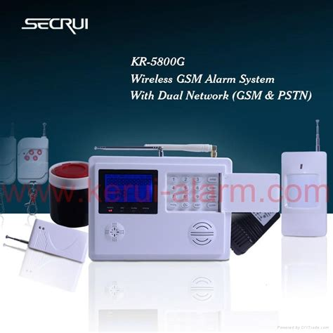 dual network home security alarm system gsm pstn kr