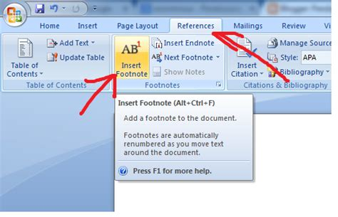 cara membuat footnote ms 2007 panduan sederhana microsoft office 2007 cara membuat