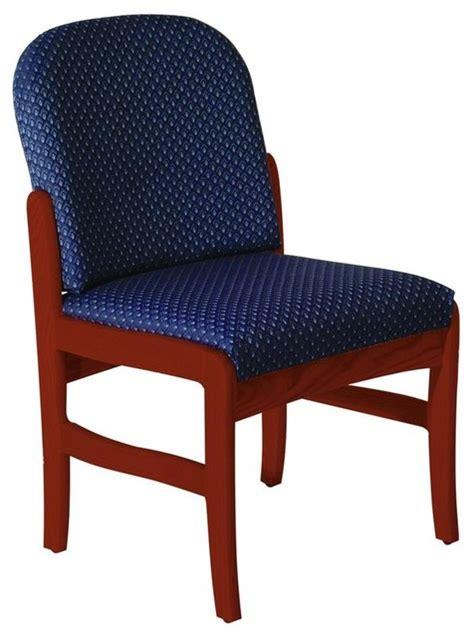 blue upholstered desk chair upholstered armless chair vinyl blue contemporary