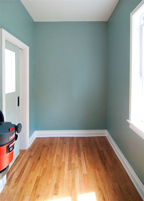 the color stratton blue by benjamin and we had it color matched to valspar optimus paint