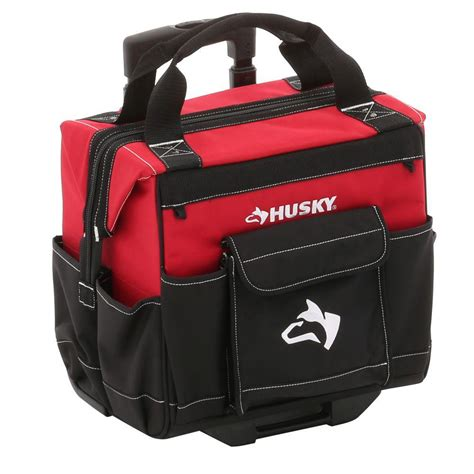 husky 14 in rolling tool tote and black shop your
