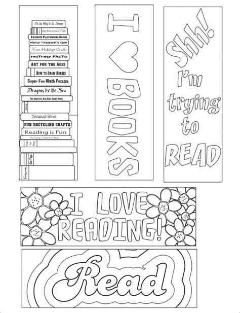 printable bookmarks pdf bookmark template 10 free word pdf psd documents download