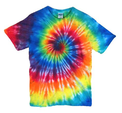 tie dye t shirt classic rainbow spiral 100 cotton mens