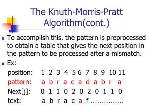 string and pattern matching algorithm ppt knuth morris pratt pattern matching algorithm exle string