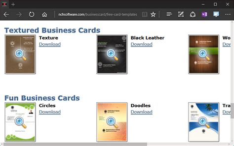 cardworks business card software templates create own business card using nch cardworks tool