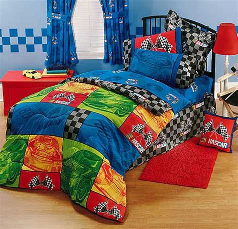 nascar bedding nascar in the race full bed skirt