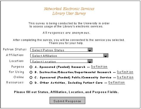 library usage pattern survey form in pdf supplier evaluation survey form in pdf