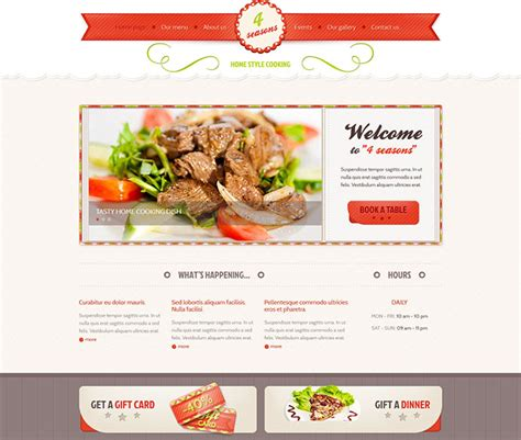 restaurant profile template 25 best html website templates for cafe bar restaurant