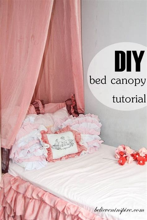 how to make a bed canopy how to make super easy bed canopy cute ideas pinterest