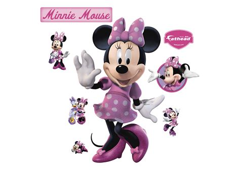 Minnie Mouse by Minnie Mouse Wall Decal Shop Fathead 174 For Mickey Mouse Decor