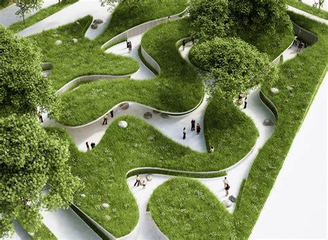 Green Home Design Build River Penda Designs River Inspired Landscape Pavilion For China