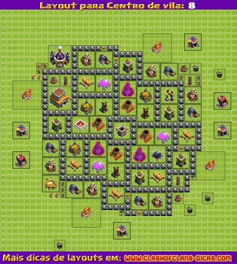 Layout Batman Cv 8 | layouts para clash of clans centro de vila 8