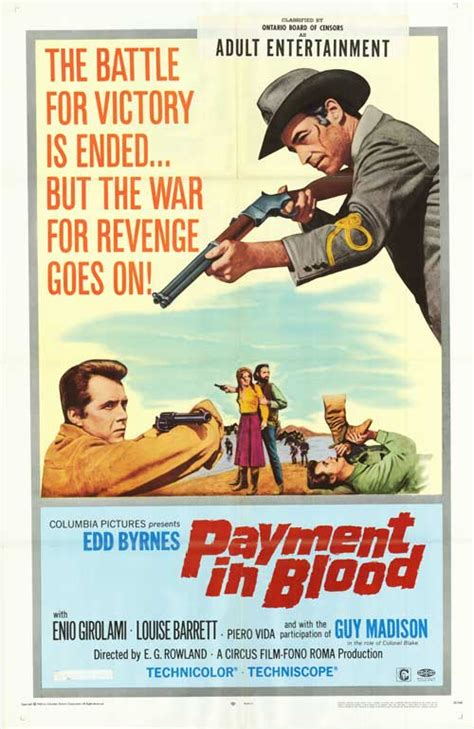 Payment In Blood Movie Posters At Movie Poster Warehouse