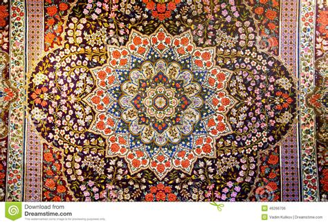 Central Oriental Rugs Central Fragment Of Beautiful Oriental Persian Carpet With