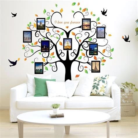 large wall decals for living room wall decal world map family large tree wall decal picture frames living room