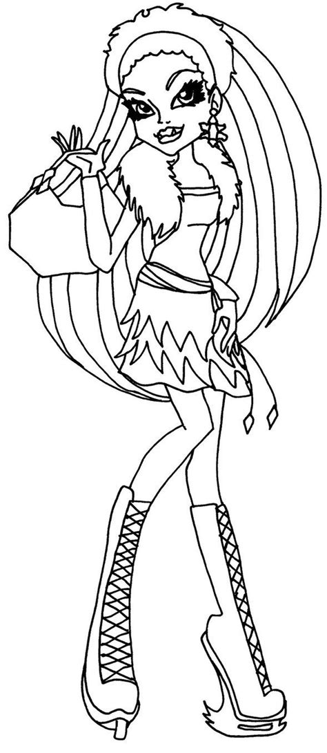 monster high coloring pages baby abbey bominable abbey bominable monster high coloring page coloring