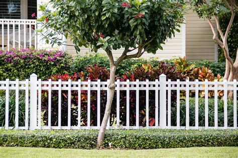 white backyard fence beautiful white fence landscaping ideas garden lovers club