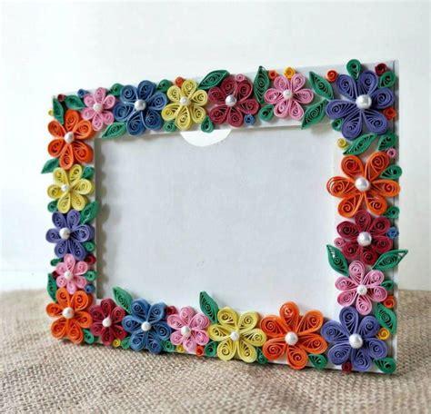 photo frame crafts for quilled flower photo frame craft allfreepapercrafts