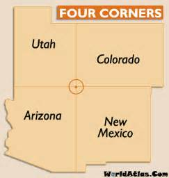 map of the four corners