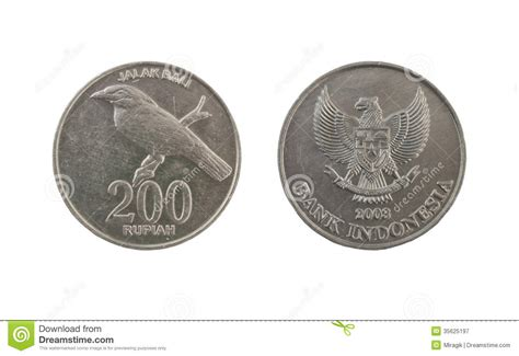 Coin Bali 200 rupiah coin stock image image of change 35625197