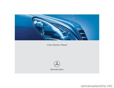 mercedes benz s55amg 2004 w220 owner s manual