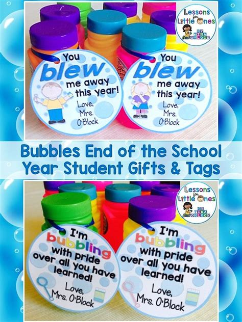 ideas from to student end of the year student gifts gift tags celebrations