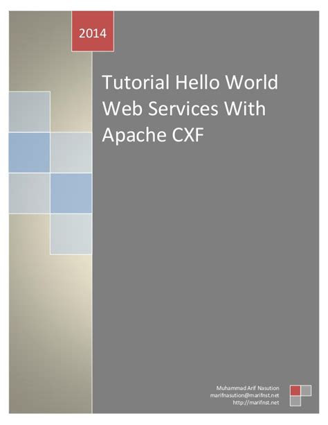 yii tutorial hello world tutorial hello world web services with apache cxf