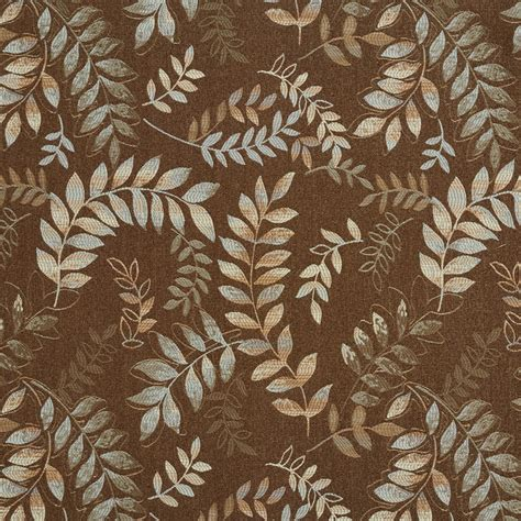 upholstery fabric savannah ga savannah brown and coral artisan painted leaf on twine