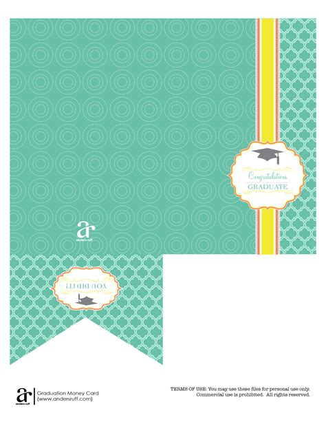 Ruff Draft Free Printable Graduation Money Card Anders Ruff Custom Designs Llc Cards Free Templates