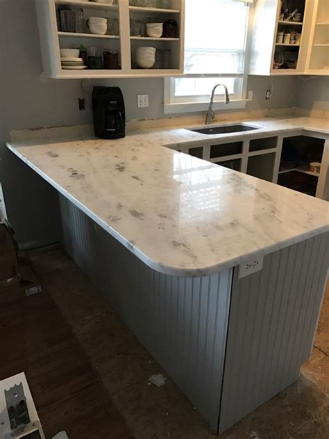 Countertop Radius by Help Countertops Were Installed With A Rounded Corner