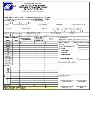 download sss r3 excel format r5 form fill online printable fillable blank pdffiller