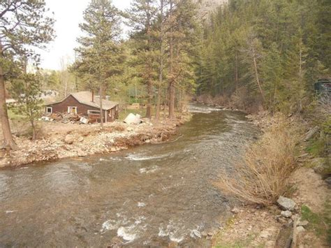 Estes Park River Cabins by View From Cabin 8 Balcony Picture Of Rustic River