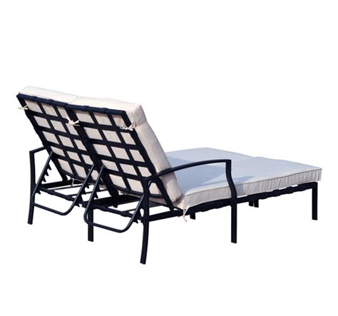 2 person outdoor chaise lounge adjustable outdoor patio double chaise lounge cushioned