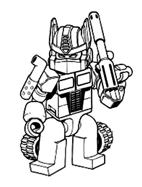 Transformers Oprimus Prime With Bazooka Coloring Page Kids Happy Birthday Bumblebee Prime Coloring Sheet Sheet