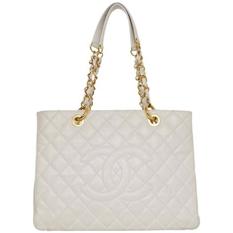 Chanel Gst Caviar Ghw 5266 chanel white quilted caviar grand shopper tote gst bag ghw for sale at 1stdibs