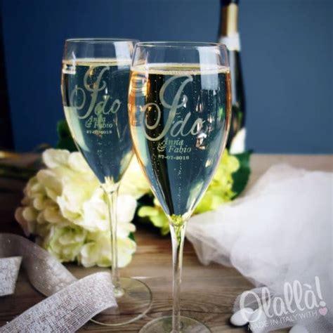 bicchieri personalizzati vetro bicchiere flute personalizzato con incisione quot i do quot nomi e