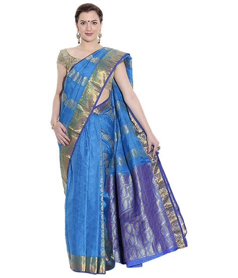 pothys silk sarees pothys blue silk saree buy pothys blue silk saree online