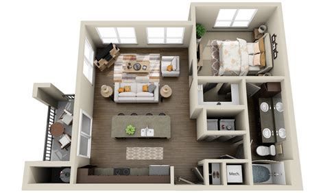 Studio Floorplan by 3dplans Com